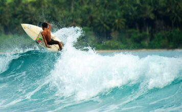 surfing in Asia