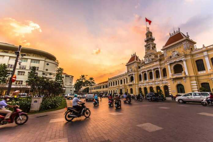 In the place of Vietnam, Ho Chi Minh City is the business and financial hub of Vietnam
