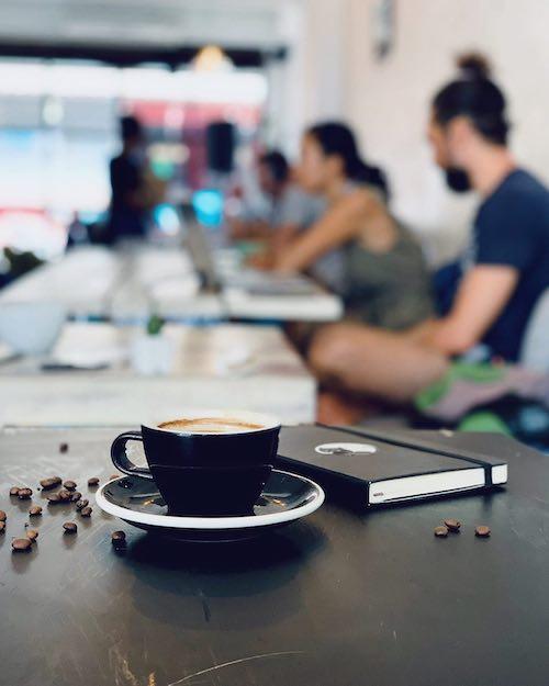 Dots Café Coworking space in Koh Phangan