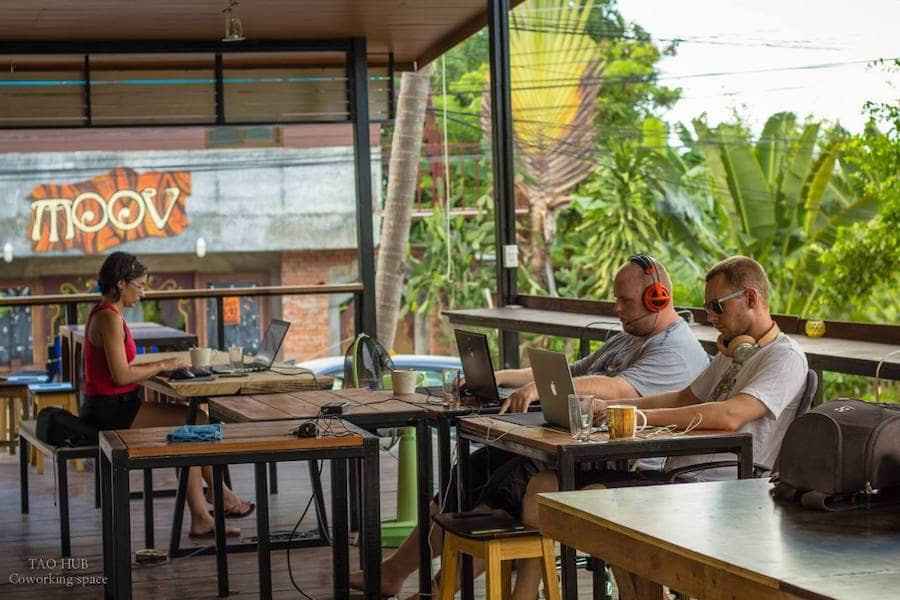 Tao Hub Coworking Space in Koh Phangan